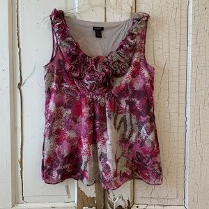 Ann Taylor watercolor top Size Large